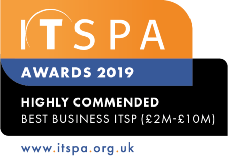 Best Business ITSP (£2m-£10m) - HIGHLY COMMENDED 2019