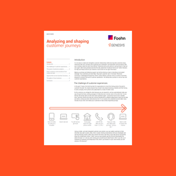 Genesys Guide: Analysing and Shaping Customer Journeys