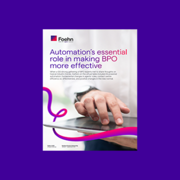 Automation's essential role in making BPO's CX more effective